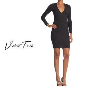 Long Sleeve Empire Sweater Midi by Velvet Torch NWT